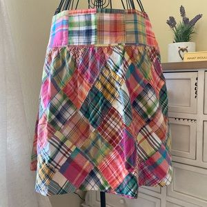 CAbi Plaid Patchwork Skirt Size 4